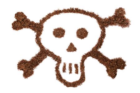 snuff: Detalle de un cr�neo formado por tabaco