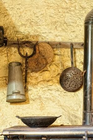cucina antica: Dettagli di una vecchia cucina Archivio Fotografico