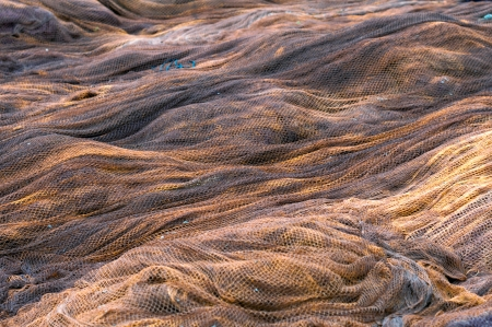 Detail of fishing nets to repair photo