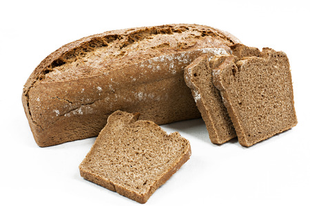 Special manufacture bread spelled flour Stock Photo