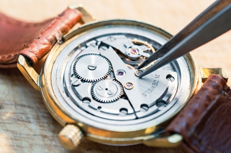 old watch: Special tools for repair of clocks  Stock Photo