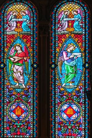 Detail of windows of a church