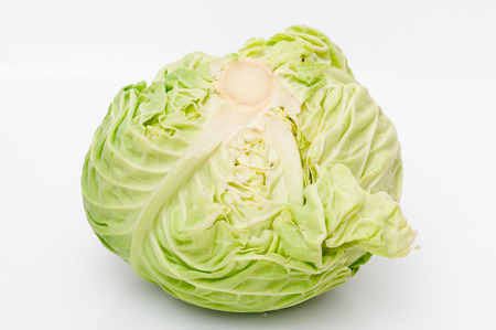Detail of a cabbage on isolated background Stock Photo