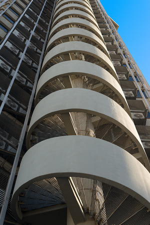 Details of the fire escape of a building
