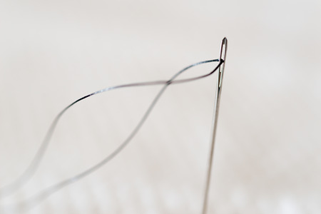Detail of a needle with thread things