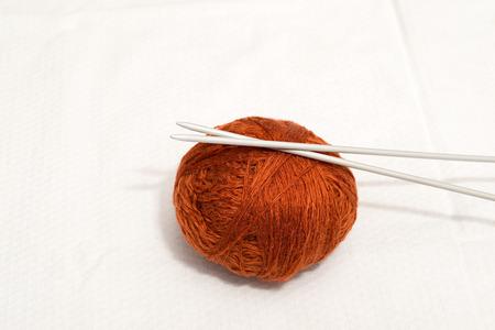 Detail of needles for knitting half
