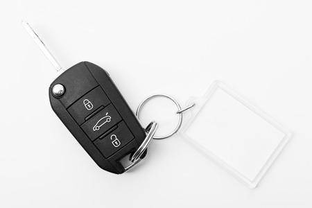 llaves: llave del coche con la llave en bruto para las notas Foto de archivo