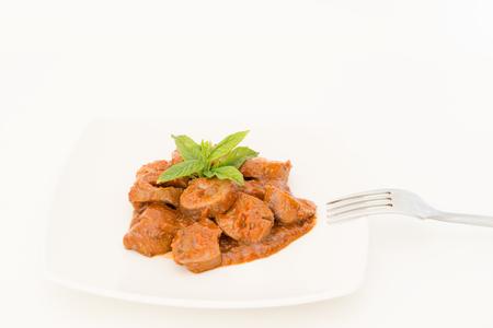 kidneys: Stew of pig kidneys of sherry