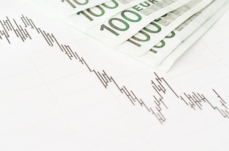 simulation: Simulation of a financial study Stock Photo