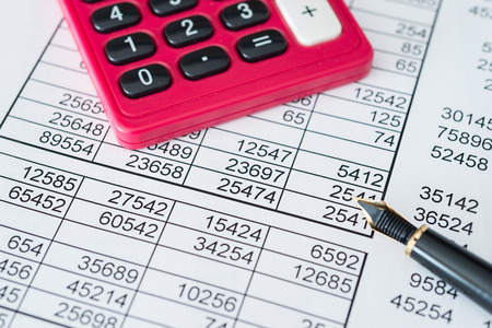 Simulation of a financial study Stock Photo