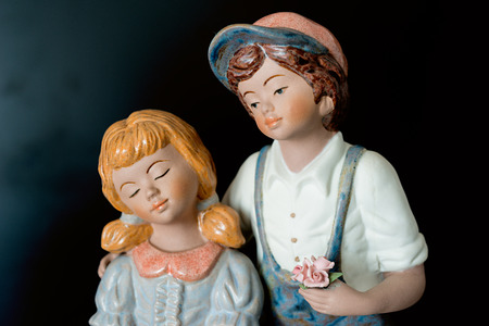simulating: Simulating porcelain figures in love