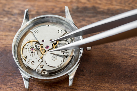 steel: Details of watches and mechanisms for reparation, restoration and maintenance
