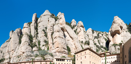 barcelona: Details Monastery Montserrat (Barcelona - Spain) Stock Photo