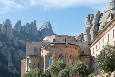 barcelona cathedral: Details Monastery Montserrat (Barcelona - Spain) Stock Photo
