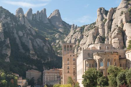 monasteri: Dettagli Monastero di Montserrat (Barcellona - Spagna) Archivio Fotografico
