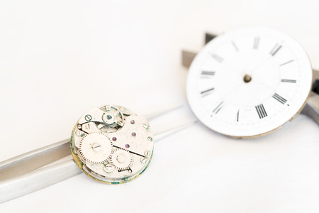 restoration: Details of watches and mechanisms for reparation, restoration and maintenance