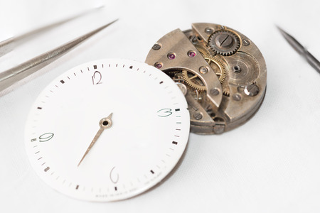 mechanisms: Details of watches and mechanisms for reparation, restoration and maintenance