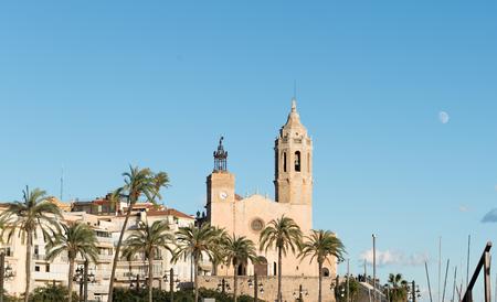 cau: Details of the Church of St. Bartholomew and Santa Tecla in Sitges (Spain)
