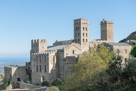 selva: PORT DE LA SELVA   OCTUBRE 2015 - MONASTERY SANT PERE DE RODES. Benedictine monastery. October 15, 2015 in Port de la Selva, Girona - Spain.