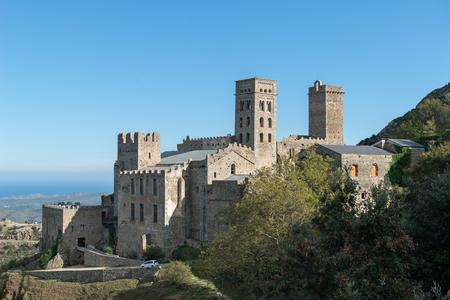 benedictine: PORT DE LA SELVA   OCTUBRE 2015 - MONASTERY SANT PERE DE RODES. Benedictine monastery. October 15, 2015 in Port de la Selva, Girona - Spain.