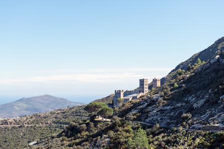 benedictine: PORT DE LA SELVA  OCTOBER 2015 - MONASTERY SANT PERE DE RODES. Benedictine monastery. October 15, 2015 in Port de la Selva, Girona - Spain.