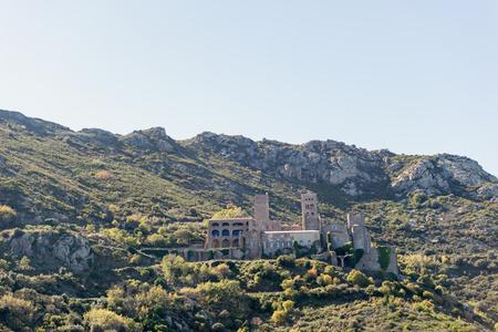 selva: PORT DE LA SELVA   OCTOBER 2015 - MONASTERY SANT PERE DE RODES. Benedictine monastery. October 15, 2015 in Port de la Selva, Girona - Spain. Editorial
