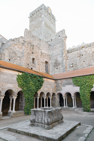 selva: PORT DE LA SELVA  OCTOBER 2015 - MONASTERY SANT PERE DE RODES. Benedictine monastery. October 15, 2015 in Port de la Selva, Girona - Spain.