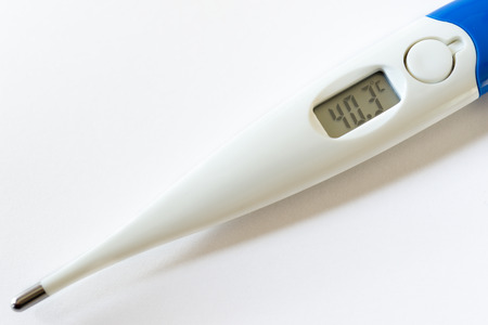 digital thermometer: Detail of a digital thermometer