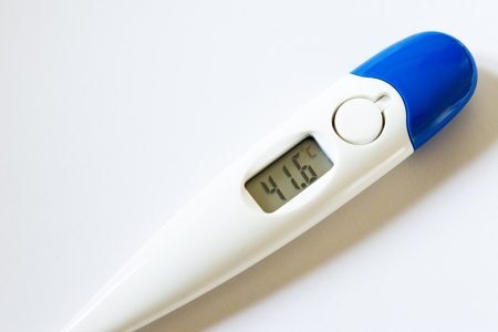 termometer: Detail of a digital thermometer