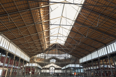 mercat: Cultural center El Born (Barcelona - Spain). Old City Market which houses various archaeological remains. Barcelona (Spain), March 2016. Editorial