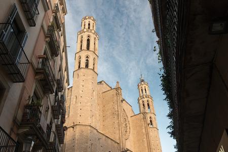 religiosity: Church of Santa Maria del Mar in Barcelona (Spain)