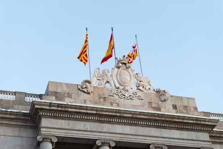 generalitat: Detail of the facade of the City of Barcelona in Spain