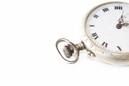 Details of a pocket watch from various angles Stock Photo