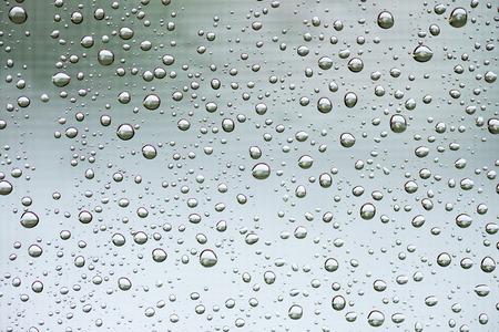 windowpane: Detail of raindrops on the windowpane