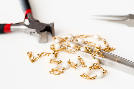 reparation: Details of jewelry for reparation, restoration and maintenance