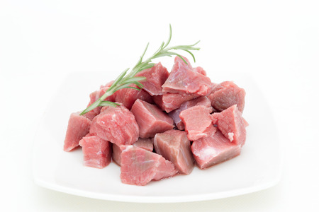 Detail of beef cut special to make stew