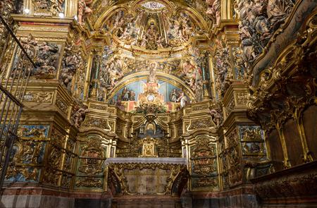 altarpiece: Altarpiece of the Virgin Colls (San Lorenzo de Morunys - Catalonia - Spain) Editorial