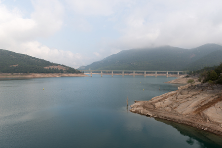 hydroelectricity: Details of a water reservoir