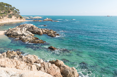 Landscapes and details of the Coast Brave (Costa Brava) in Girona (Spain) Stock Photo
