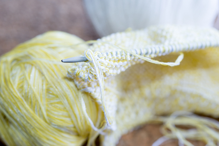 Details and wool Knitting needles