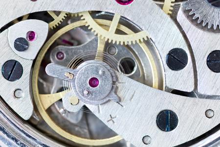 Détails des montres et des mécanismes de réparation, de restauration et d'entretien Banque d'images