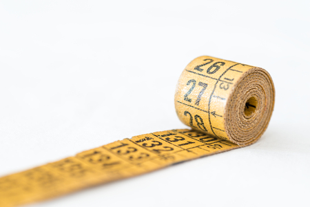 Detail of a tape used by a tailor Stock Photo