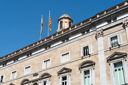 View of the facade of the Generalitat de Catalunya Stock Photo