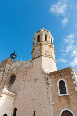 Details of the Mediterranean city of Sitges in Barcelona (Spain) Stock Photo
