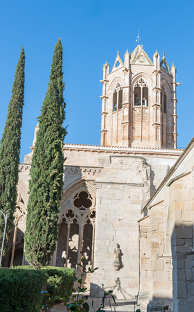 Monastery of Vallbona de las Monjas, also called the Royal Monastery of Santa María de Vallbona and Our Lady of Vallbona, is a female Cistercian abbey, located in the Catalan region of Lérida. Stock Photo
