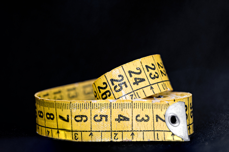 Measuring tape - Weight loss concept - fattening - size