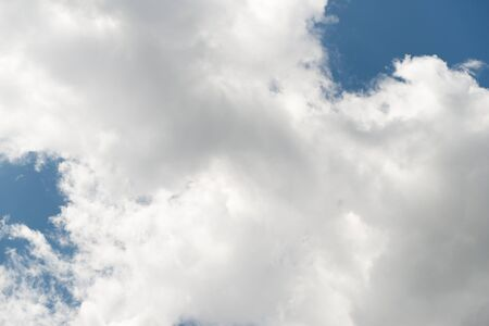 Contrast of white clouds with blue sky Stock fotó