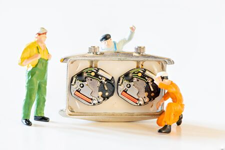 Details of watches and mechanisms for reparation, restoration and maintenance Stockfoto