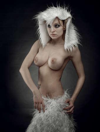 glamour nude: nude beautiful woman sexy blonde
