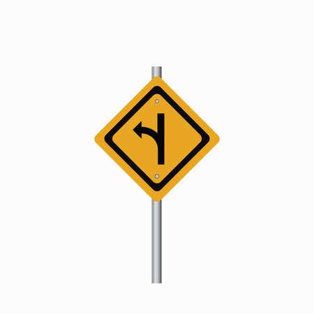 turn left: Girare a sinistra cartello stradale a destra